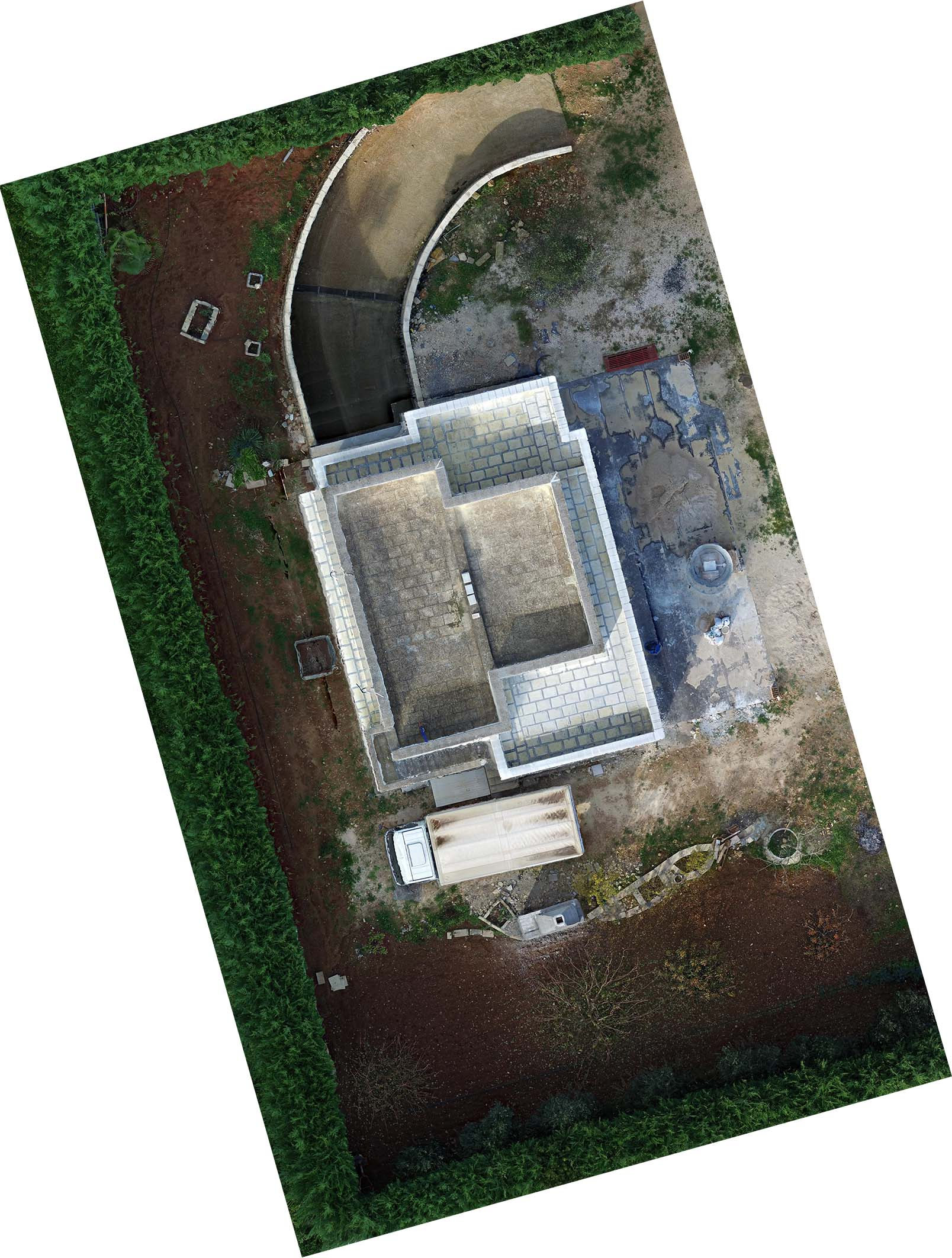 Aerial survey with UAV | Building under construction